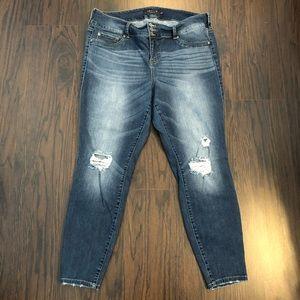 Torrid Premium denim jeans Jegging Distressed